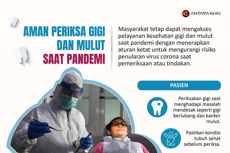 Aman periksa gigi dan mulut saat pandemi