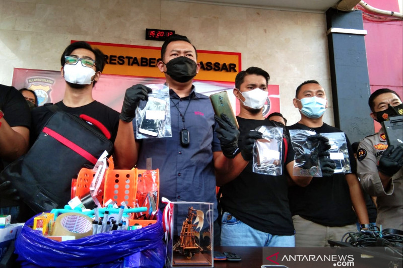 Dua pelaku pembobol Balai Kota Makassar dibekuk polisi