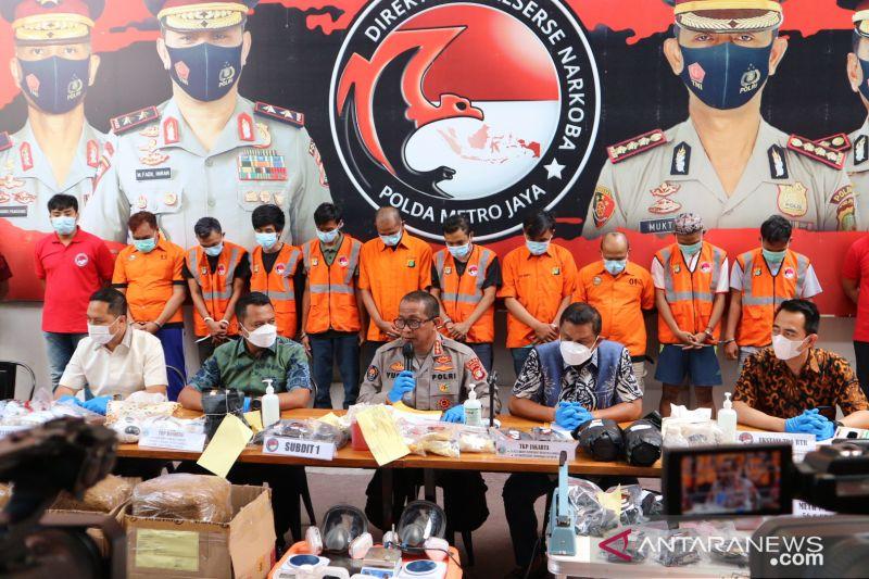 Polisi gagalkan peredaran 5.752 ekstasi dan 9,26 kg tembakau sintetis