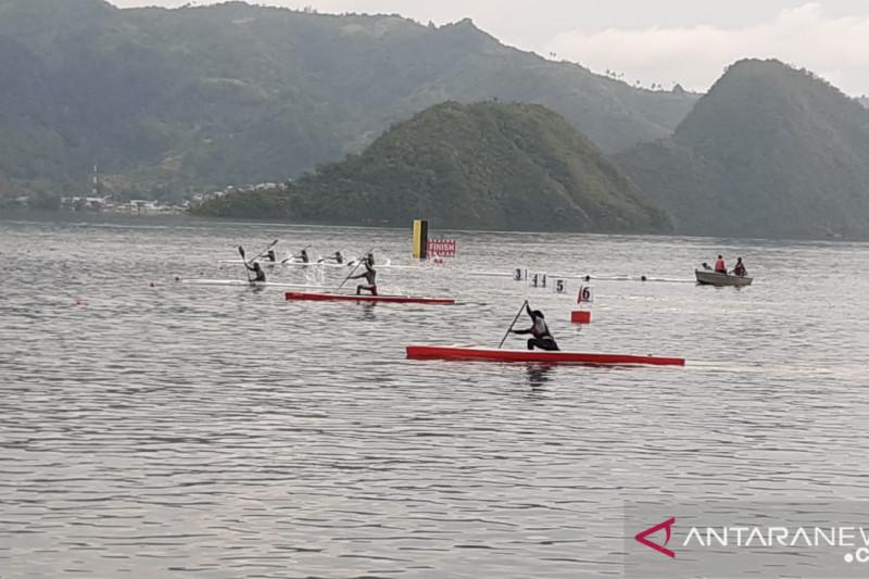 Tim dayung Sulawesi Tenggara latihan kenali arena PON Papua