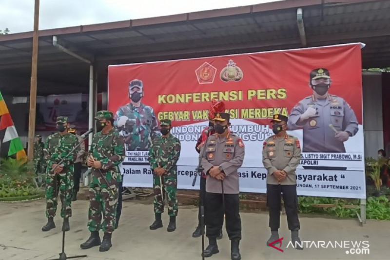TNI-Polri bantu genjot vaksinasi COVID-19 di Medan