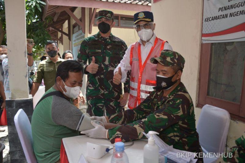 Peringati Harhubnas, Kemenhub gelar vaksinasi di Solo dan Yogyakarta