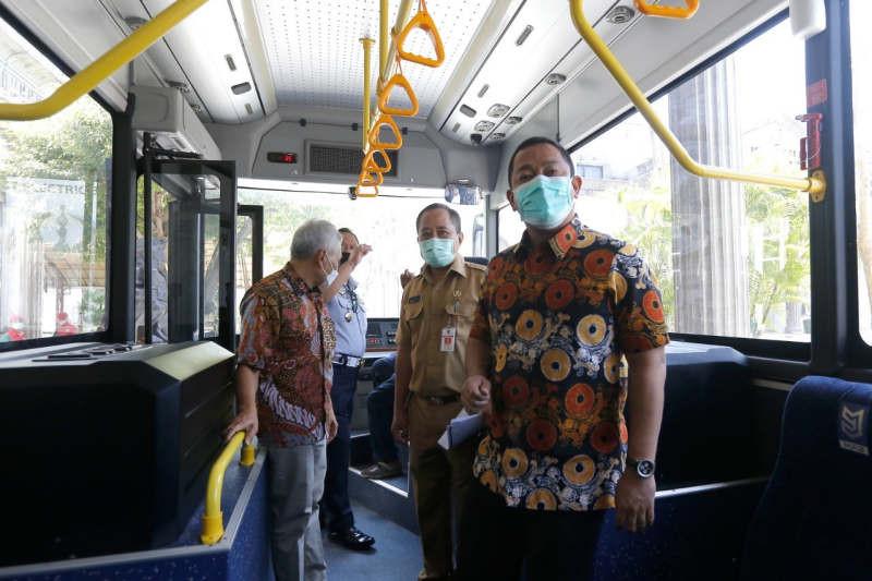 Semarang uji coba bus listrik buatan dalam negeri