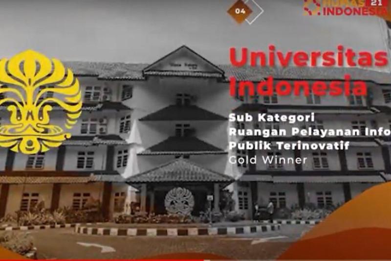 UI raih penghargaan humas Indonesia bidang pelayanan informasi publik