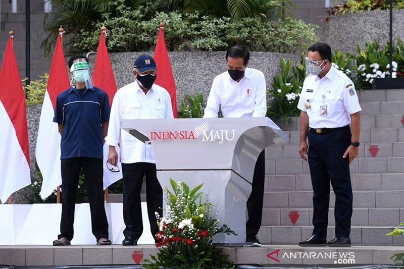 Presiden Jokowi resmikan Rusun Pasar Rumput