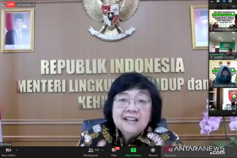 Menteri LHK: MPA Paralegal upaya pengendalian kebakaran hutan di tapak