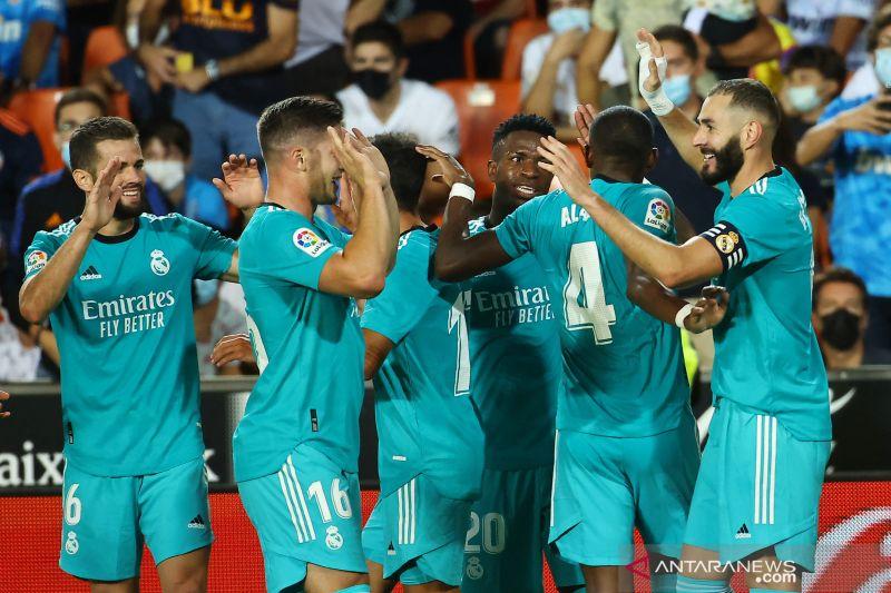 Liga Spanyol : Gol larut Benzema dan Vinicius bantu Madrid bangkit kalahkan Valencia
