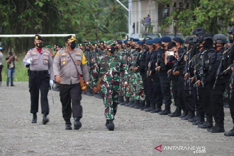 Dandim Mimika-Kapolres pimpin bersama gelar pasukan pengamanan PON XX