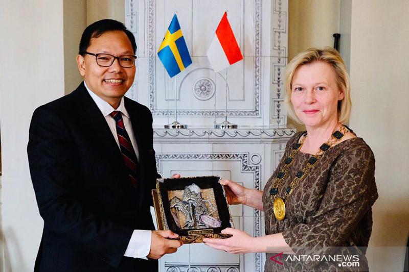 Dubes ajak Wali Kota Gothenburg dorong kerja sama ekonomi RI-Swedia