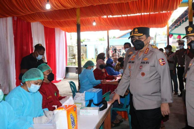 Polri percepat vaksinasi di Mimika jelang PON XX Papua