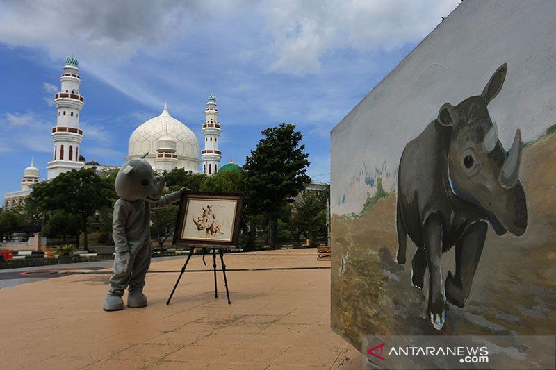 Pemuda di Aceh kampanye perlindungan badak saat World Rhino Day