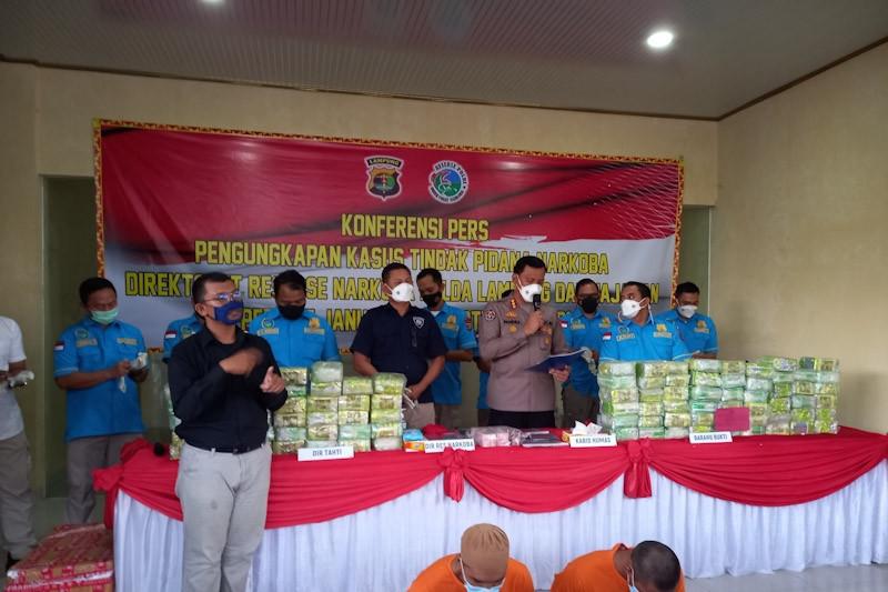 Polda Lampung ungkap kasus narkotika periode Januari- September