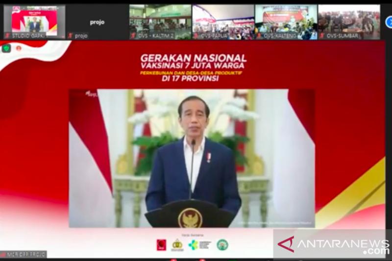Presiden Jokowi ajak yakinkan masyarakat vaksinasi aman dan halal