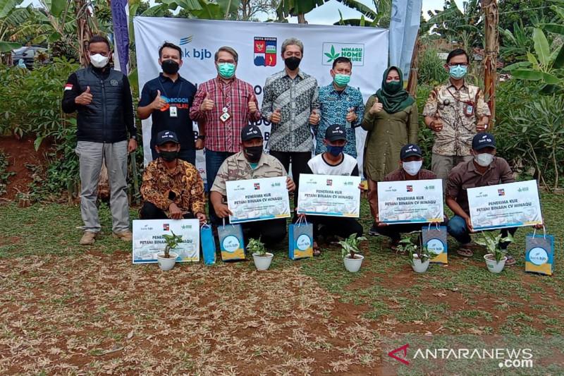 Pemkot Bogor, BJB, dan Minaqu bantu modal petani tanaman hias