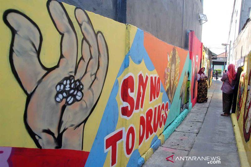Mural Kampung Tangguh Bersih Narkoba