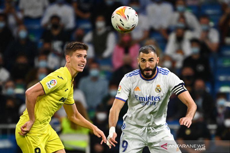 Rentetan kemenangan Real Madrid berakhir seusai diimbangi Villarreal