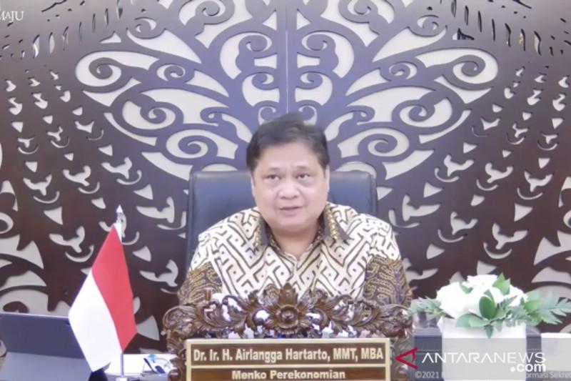 Menko Airlangga : Kasus aktif di luar Jawa-Bali sumbang 62,84 persen
