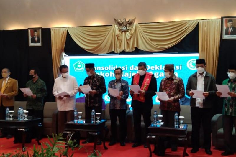 Sejumlah majelis keagamaan deklarasi agama-agama untuk Indonesia damai