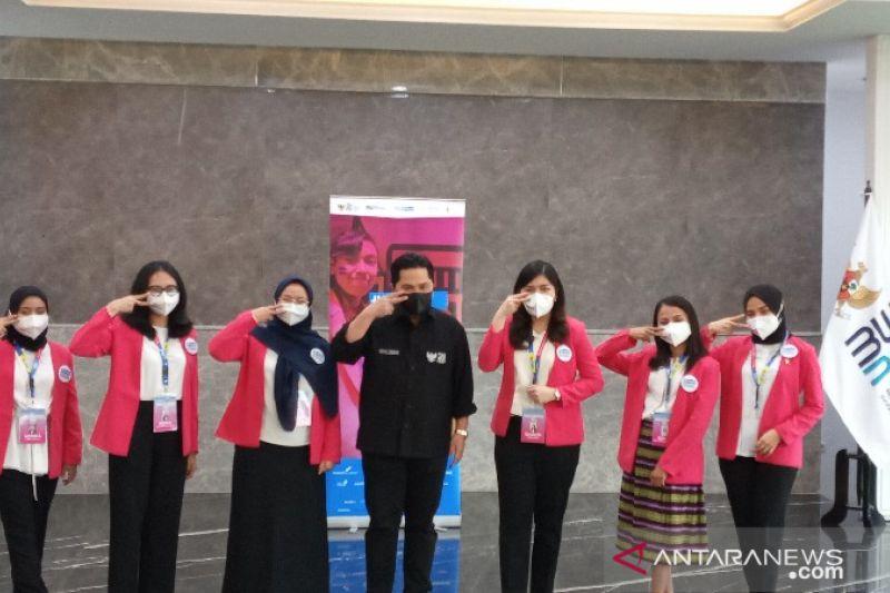 Menteri Erick Thohir berharap enam peserta #GirlsTakeover masuk beasiswa BUMN