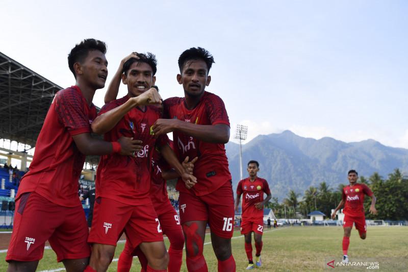Fakhri Husaini akui tim sepak bola Aceh kurang militan hadapi Sulut