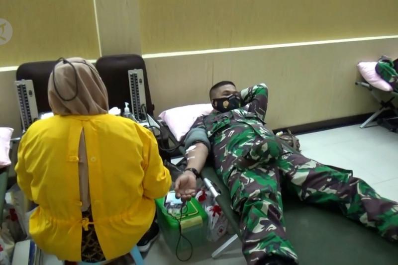 Peringatan HUT TNI, Korem Madiun gelar donor darah