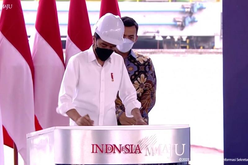 Presiden Jokowi resmikan pabrik baja Krakatau Steel