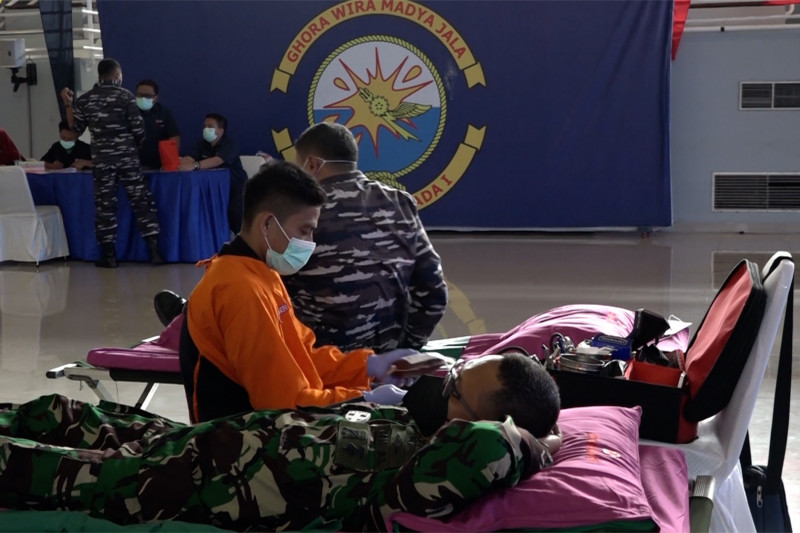 Sambut HUT ke-76 TNI, Koarmada I gelar donor darah