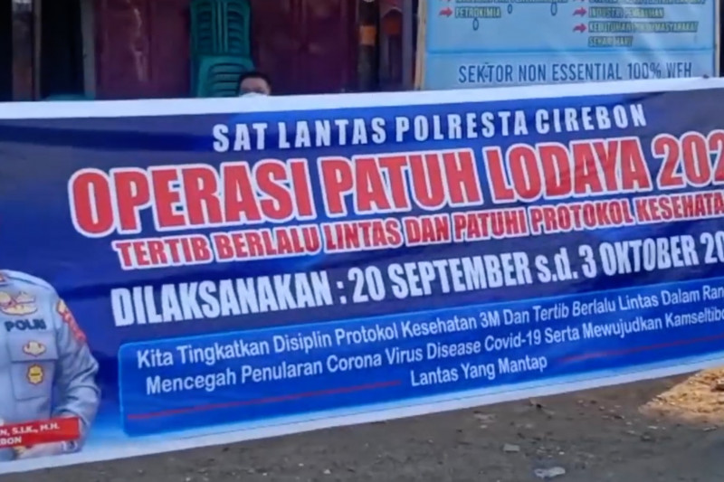 Tak patuh prokes, puluhan warga Cirebonterjaring operasi