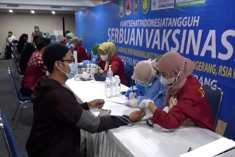 Capaian vaksinasi COVID-19 Kota Tangerang tembus 1 juta jiwa