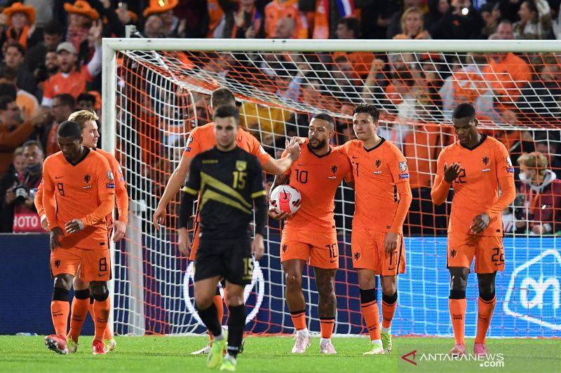 Hasil Kualifikasi Piala Dunia 2022: Belanda bantai Gibraltar 6-0 thumbnail