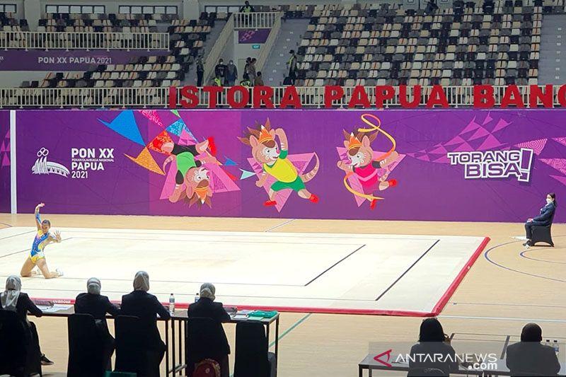 Dua medali emas kembali diperebutkan di final senam aerobik PON Papua thumbnail