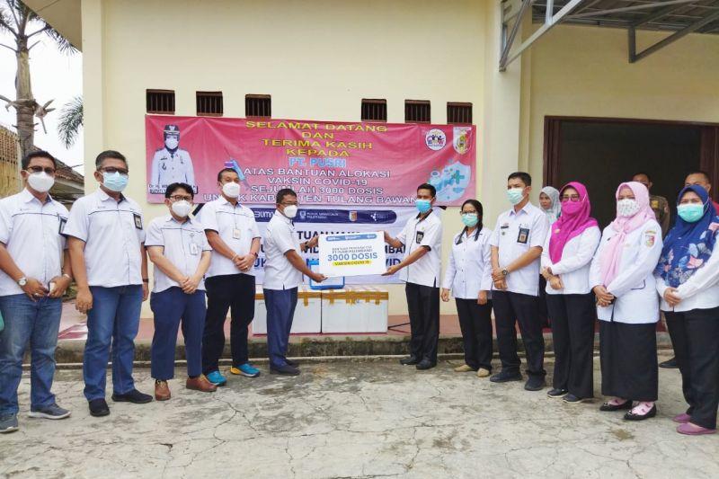 PT Pusri beri bantuan 3.000 dosis vaksin Sinopharm
