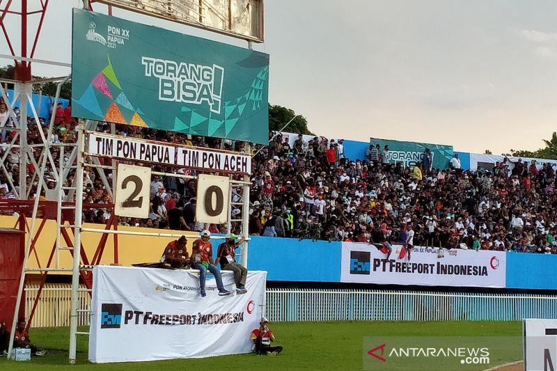 Ricky Cawor dwigol, Papua ungguli Aceh 2-0 hingga turun minum thumbnail