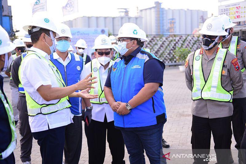 PT PP percepat pembangunan struktur dermaga Terminal Berlian Surabaya thumbnail