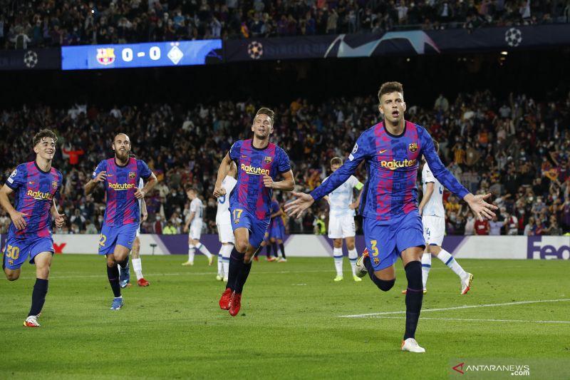 Tekuk Kiev 1-0, Barca raih kemenangan pertama di Liga Champions thumbnail