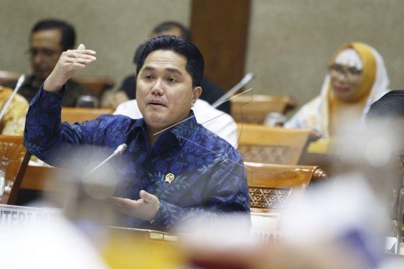 Erick Thohir tegaskan Garuda harus fokus pada rute domestik thumbnail