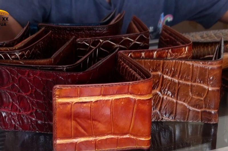 Berburu cenderamata berbahan kulit buaya dari Merauke thumbnail