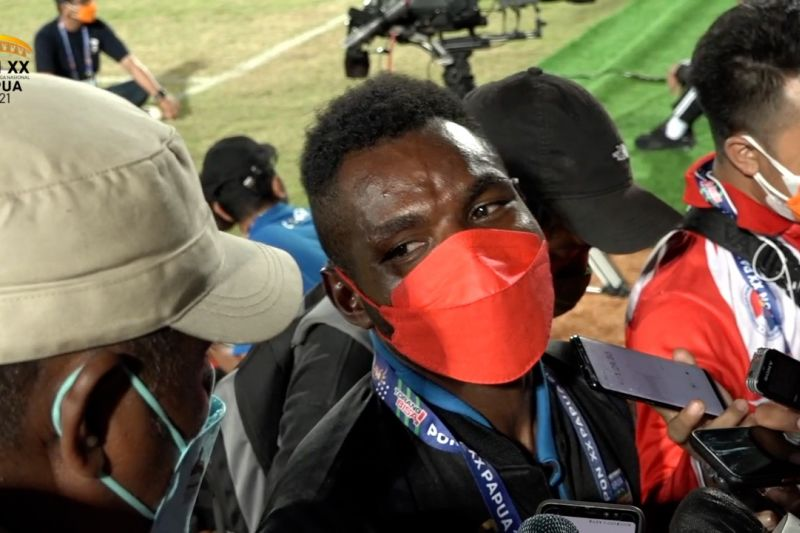 Ricky Cawor pencetak gol terbanyak PON Papua thumbnail