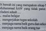 Ditemukan Soal Ujian SD  dinilai melecehkan Nabi Muhammad SAW di Solok