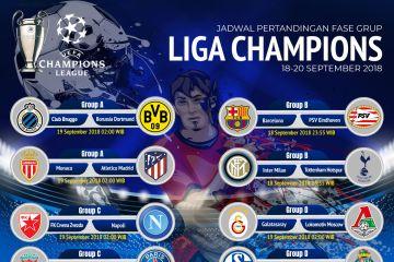 Jadwal pertandingan Liga Champions 18-20 September 2018