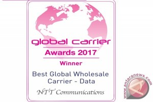 NTT Communications raih penghargaan Best Global Wholesale Carrier (Data) dan Best North American Wholesale Carrier pada Global Carrier Awards 2017