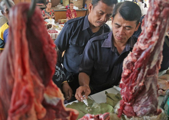 Dinas Peternakan Ngawi temukan hati sapi bercacing