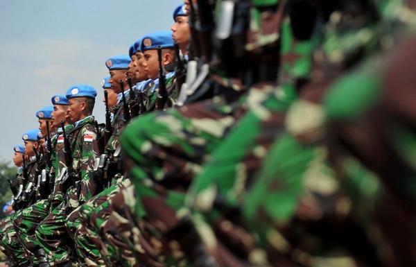 Wamenhan Sjafrie Kunjungi Prajurit TNI di Lebanon