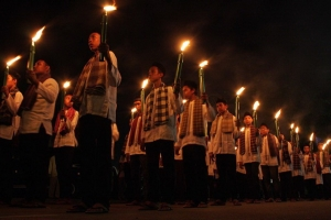 Ratusan personel Polres Mataram amankan pawai takbiran