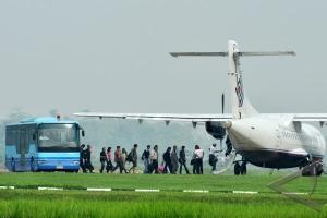 Penumpang pesawat di Bandara Supadio naik 35%
