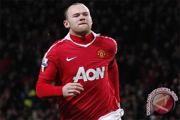 Pemain Manchester United Wayne Rooney. (FOTO.ANTARA/REUTERS/Phil Noble
