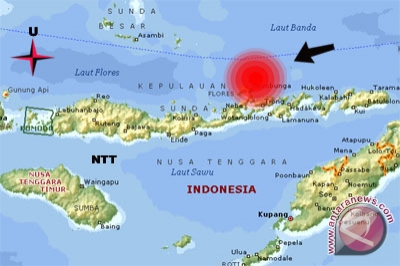 Warga NTT rasakan gempa 3,5 SR