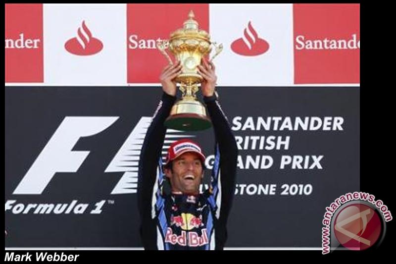 Webber rebut kemenangan di Silverstone