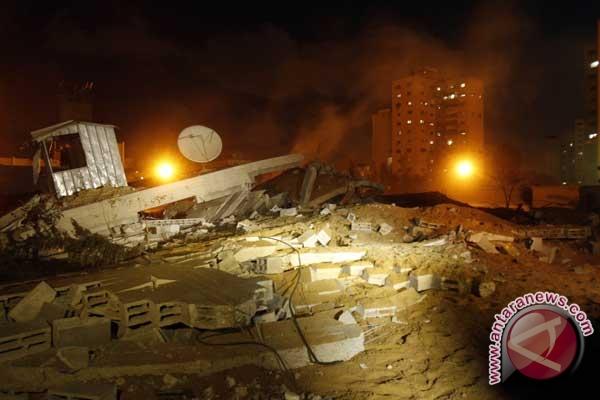 Israel lakukan serangan udara balasan di Jalur Gaza