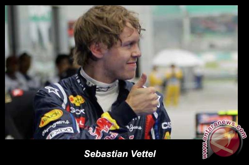 Hukuman turunkan Vettel ke posisi kelima
